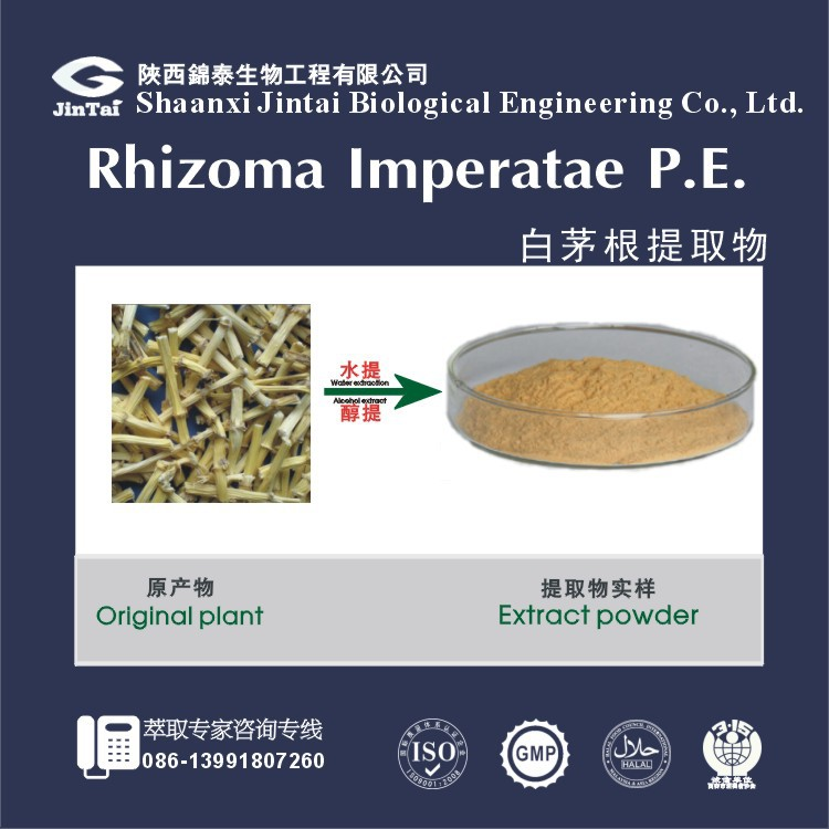 Natural Extracts from rhizoma imperatae 10:1 by TLC