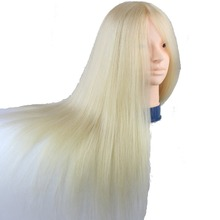 Dreambeauty 100% Human Hair #613 Blonde Color Mannequin Head for Training and Exams