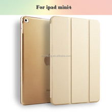 For ipad mini Flip Clear PU Leather Case For Mini 1 2 3 4 Stand Full Cover