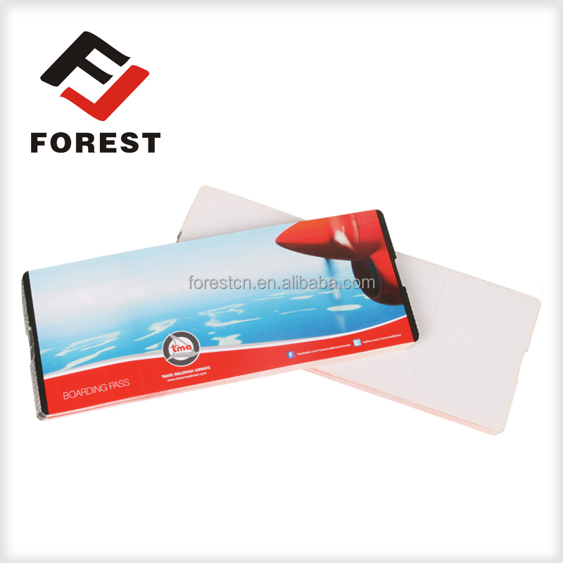 customized cheapest airline boarding pass, supply thermal paper flight tickets, air tickets printing