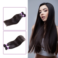 BHF 6A/7A Retail Wholesale Unprocessed natural color can be dyed wet and wavy indian remy straight hair weave