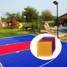 Portable anti slip durable modular assembly customized outdoor easy click pp interlock basketball court sports flooring tiles