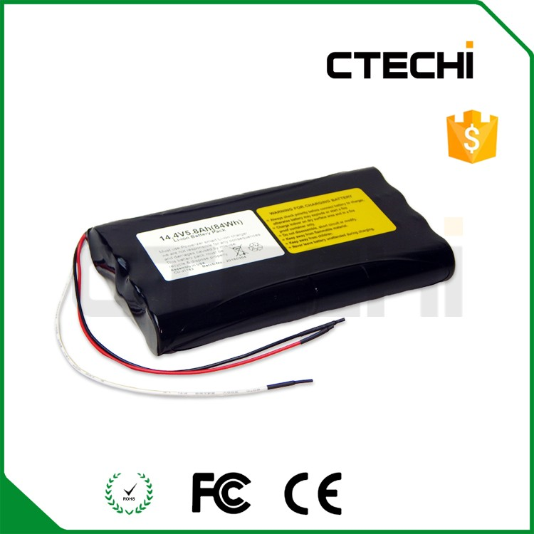 Li-ion 18650 battery with IEC certification battery pack for medical instruments