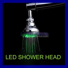 ABS Body Diameter 100 mm No Battery Needed LED Top Shower Head