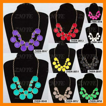 Fashion Spade Faced Candy Punk Bubble KS Necklace ZHBN-0049