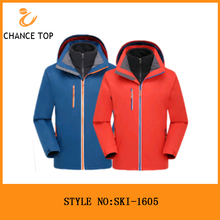 2017 High quality varsity outdoor waterproof polyester custom mens cheap ski jacket