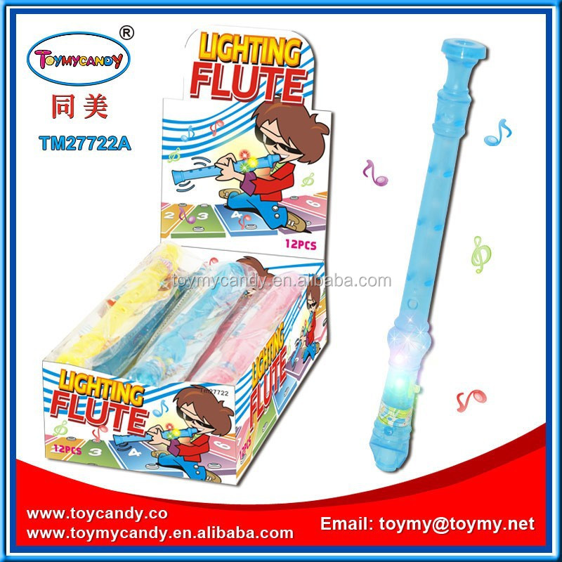 Hot new kids toys china wholesale baby musical instrument toy flute with light toy musical instrument with candy for kids