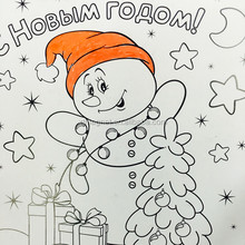 customized snowman drawing fridge magnet/ kid-lovely educatioanl magnet sticker
