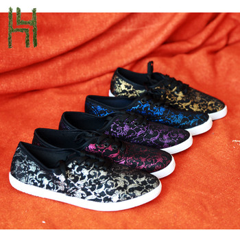 dark cinderella shoes canvas women lace up light weight for girls