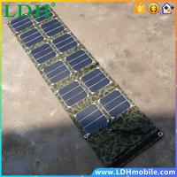 Foldable 40W Solar Panel Charger /Mobile Phone Charger USB 5V+DC18V Output For 12V Battery Charger High Quality Free Shipping