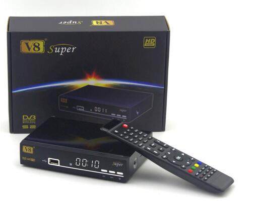 2016 New DVB-S2 1080p hd digital satellite receiver V8 Super decoder free to air set top box support biss key cccam youporn