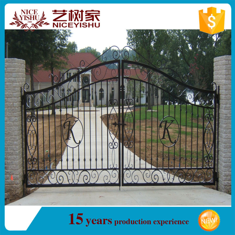 Allibaba.com Gate Grill Fence Design/wrought Iron Grill Gate Design/safety  Door