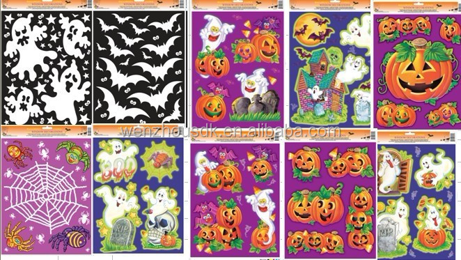 High Quality Static cling window stickers for Halloween