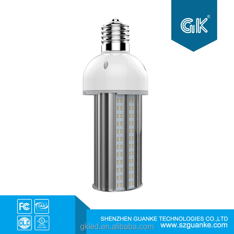 wall pack DLC ETL listed 180 degree led gas station canopy lights 145lm/w for 5 years warranty Samsung 5630 led corn lamp e40