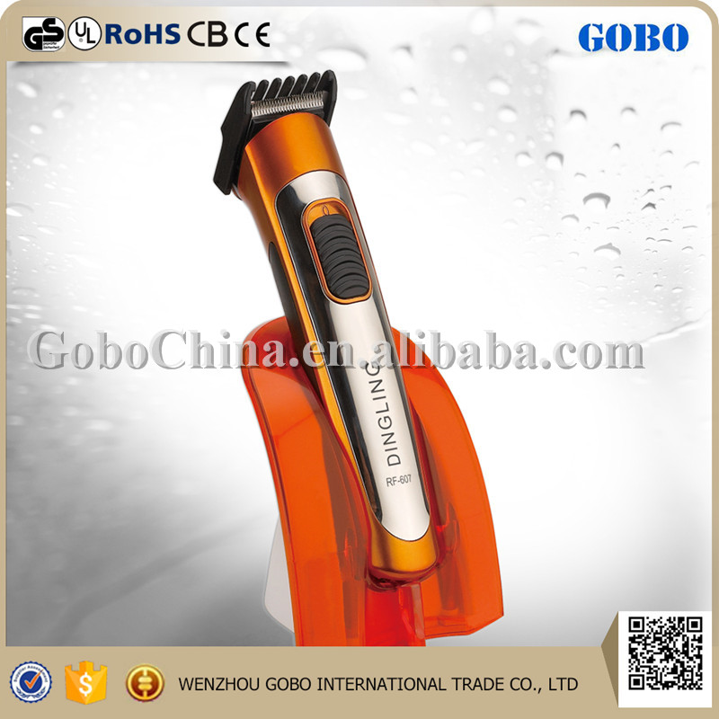 RF-607 Dingling DC motor hair trimmer/hair clipper/beard trimmer with sharp blade