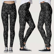 Wholesale Fitness Clothing Women Polka Dot Big Dotted Pant Footless Legging Tights Woman Leggings With All Over Digital Printing