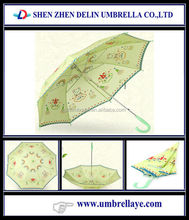 All cartoon rainbow printed umbrella, gift items for children