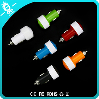 anti-jamming safery fast colorful 3.1a single usb rohs smart car charger