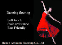 Commercial anti-static homogeneous pvc flooring for danceing room