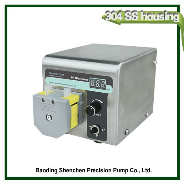 Small cheap peristaltic pump for reaction still