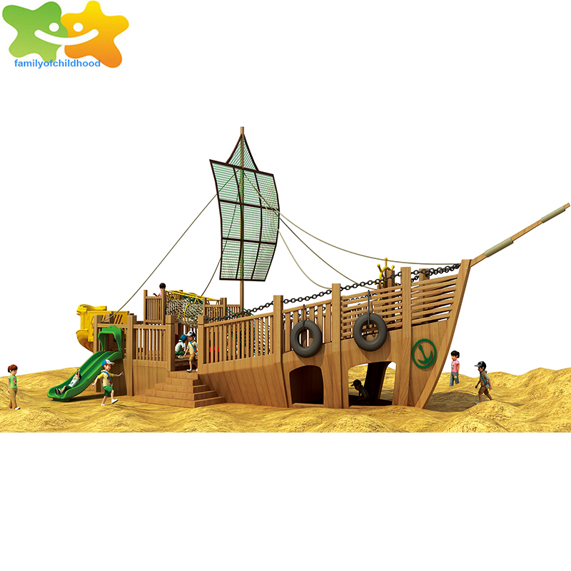 pirate ship kids wooden outdoor play slide outdoor playsets for small yards