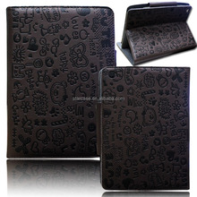 Portable leather tablet case for iPad mini, Magnetic Fold flip leather tablet case for iPad mini