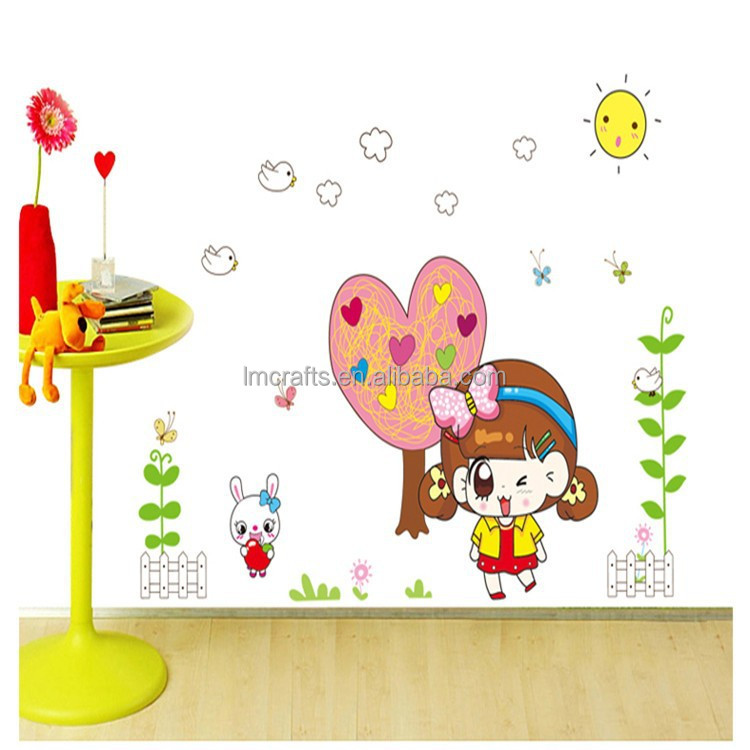 DIY Vinyl Removable Cute Princess the Giving Tree Wall Stickers Living Room Kids Bedroom home decoration AY9114