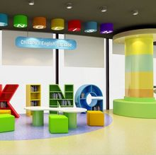 China Ecofriendly Magical Pvc Flooring For Children Liquid Floor Tiles Colorful Changing