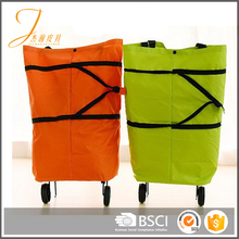 New reusable trolley bags wheels shopping bag