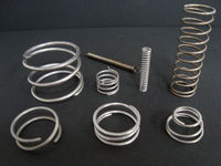 Specialty materials compression coil spring of electrical conductivity for battery made in Japan
