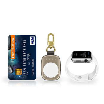 700mAh MFI watch keychain qi wireless smart charger