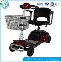Four wheel folding star electric mobility scooter