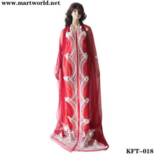 2014 eye-catching red designer ladies kaftan (KFT-018)