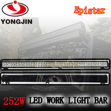2016 New design 17640lm 252w led light bar,3w chip,off road 4x4 use for jeep wrangle trucks cars