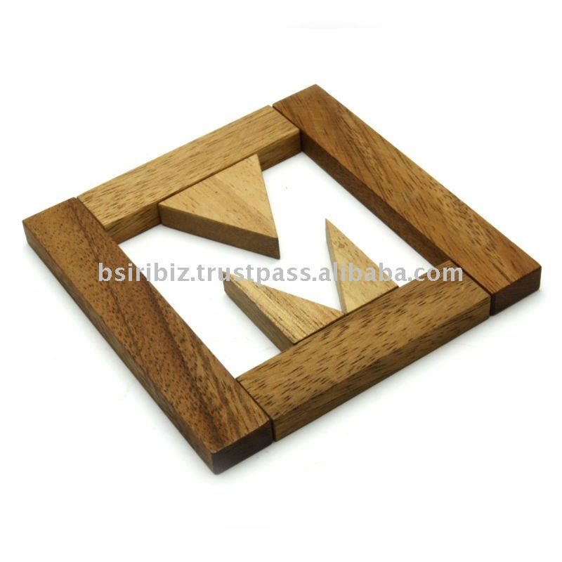 wooden alphabet find the M letter Puzzle brain teaser