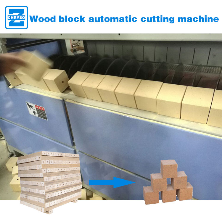 wood block cutting