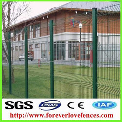 PVC fence Galvanized Wire Mesh Fencing/Iron bending fence