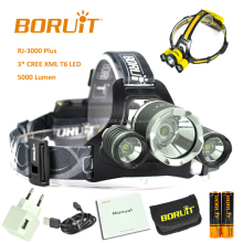Original Boruit New High Power LED Headlamp RJ-3000 plus