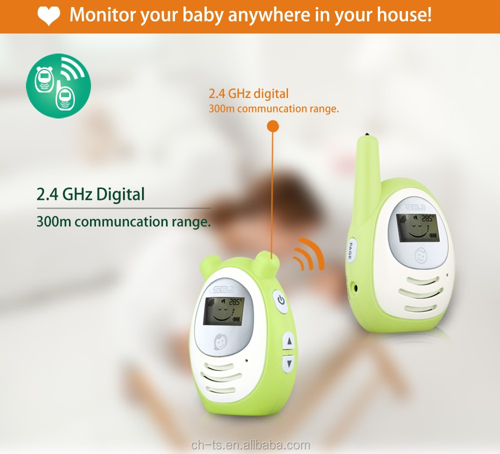 home secure lcd temperature monitor wireless audio baby monitor digital baby phone