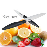 2 Piece Set Zircon ceramic Paring knife,3 + 5 inches paring knife, fruit knife sets