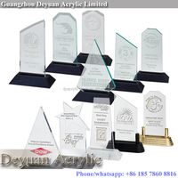 Acrylic awards trophies crystal solid color with custom print