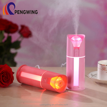 130ml Quiet Automatic Shut-off Rose Shaped Car Diffuser Usb Cool Mist Mini Humidifier With LED Light