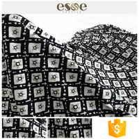 Latest design clothing textile plain printed pure cotton fabric