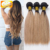 Indian silk straight fashionable human virgin hair Ombre 1b/27