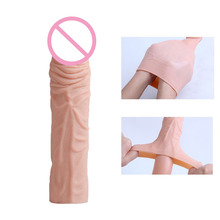 No Toxic Medical TPE Silicon Unisex Penis Sleeve Enlargement , Reusable Flexible penis sleeve for man
