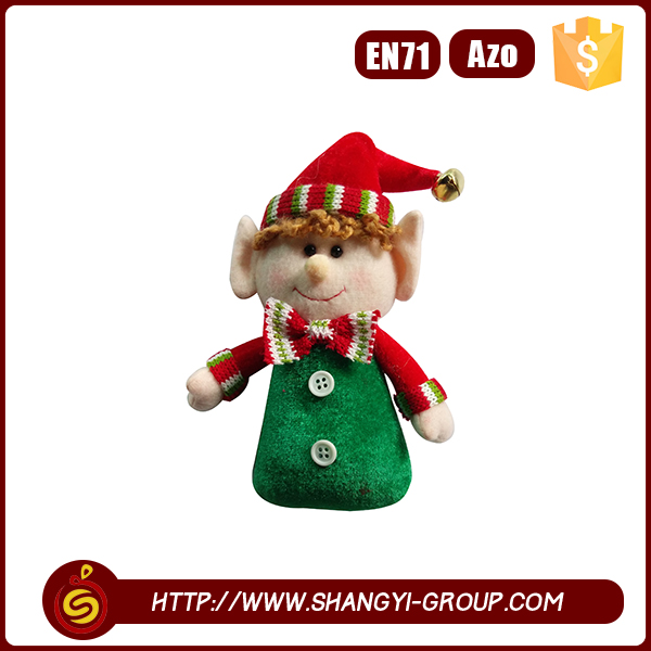 2016 Festive table decoration boy elf standing doll christmas plush toy