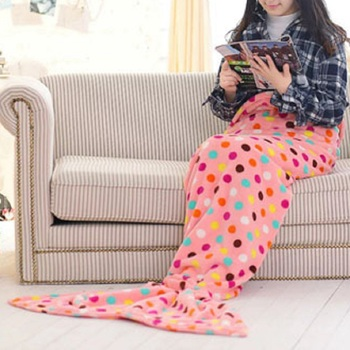 SZPLH Mermaid Blanket Soft Polar Fleece Travel Blanket for Adults and Kids