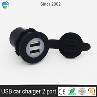 Mini car charger Adaptor Bullet Dual USB 2-port phone intelligent charger