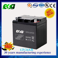 Float charging UPS battery 12v 24ah rechargeable lead acid battery