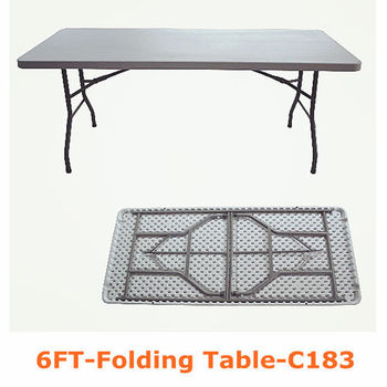 factory direct 6FT outdoor portable folding table and chairs
